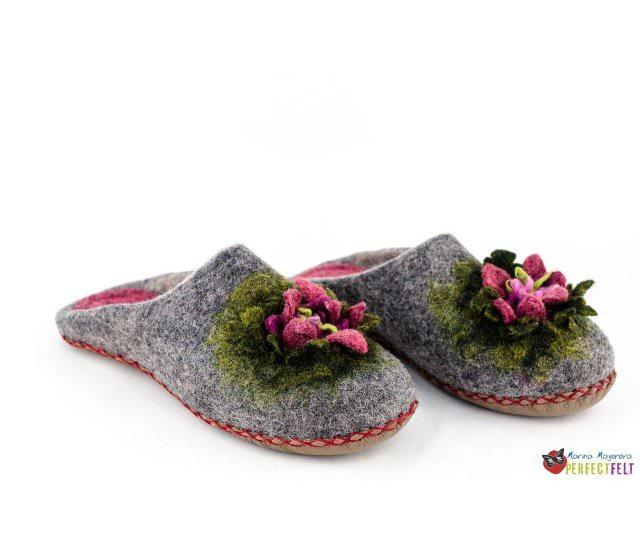 тапочки с цветком без пятки  Анпейту