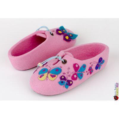 Тапочки детские для девочек войлочные