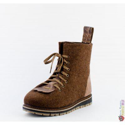 Брутальные мужские ботинки ручной работы Lumberjack со вставками из кожи