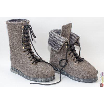 Серые мужские ботинки на заказ ручной работы