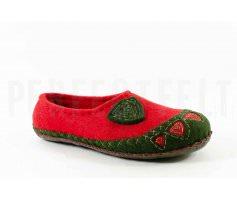 Тапочки красно-зелёные