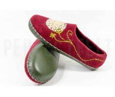 Женские тапочки из войлока Одуванчики